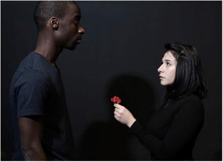 Duo entre les personnages Schiste et Ardoise - Photo : Victor Woodson Laszlo ©